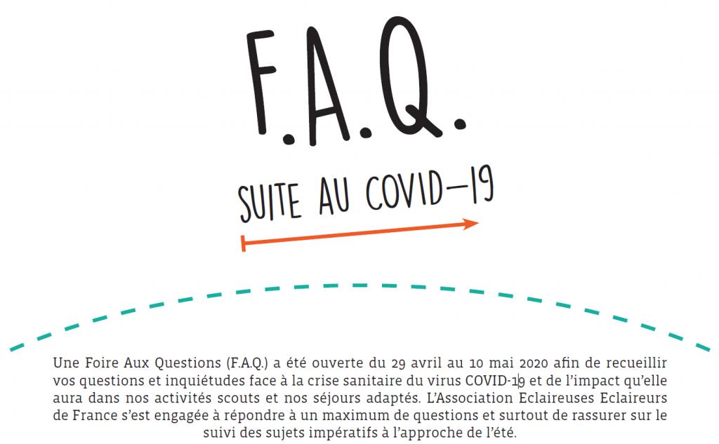 F.A.Q. suite au COVID-19 disponible !