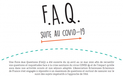 F.A.Q. suite au COVID-19 disponible !